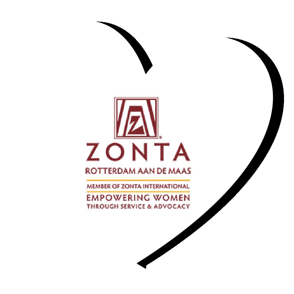 Logo Zonta Rotterdam aan de Maas in hartje